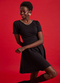 DeFacto Slim Fit Örme Elbise Siyah